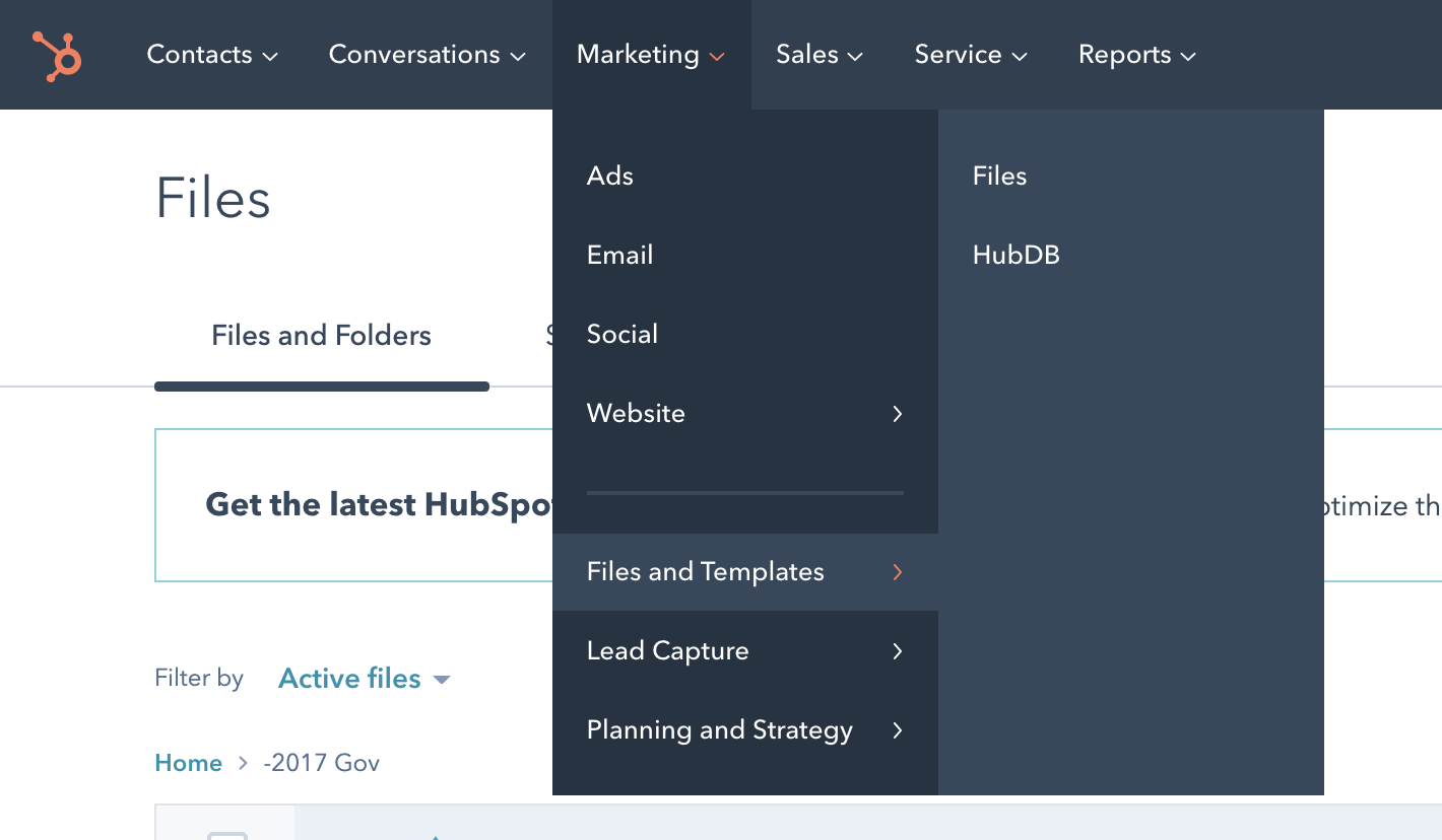HubSpot File Manager