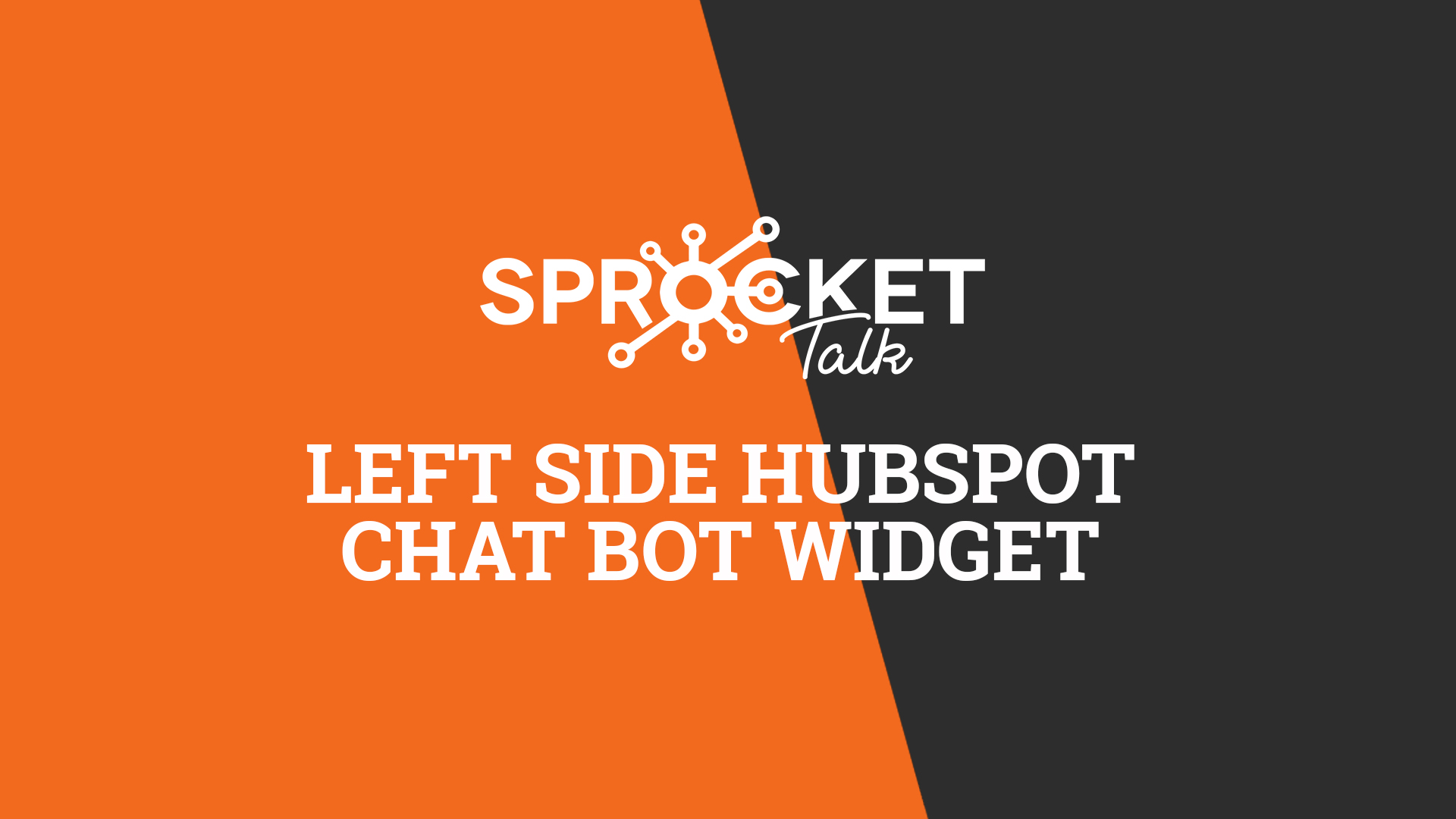 Left Side HubSpot Chat Bot Widget